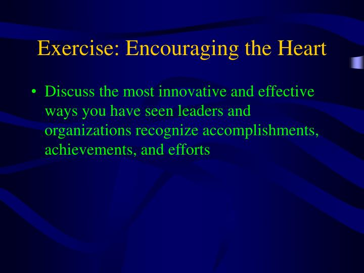 Exercise: Encouraging the Heart