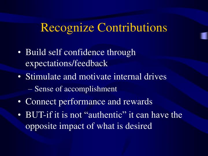 Recognize Contributions