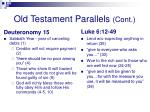 old testament parallels cont