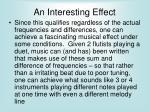 an interesting effect