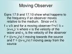 moving observer