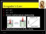 avogadro s law