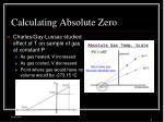 calculating absolute zero