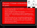 pressure volume relationship of gases