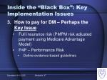 inside the black box key implementation issues15