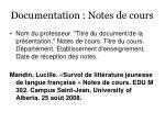 documentation notes de cours40