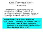 liste d ouvrages cit s exercice30