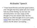 alcibiades speech