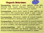 magnetic behaviours