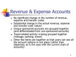 revenue expense accounts