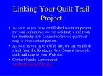 linking your quilt trail project