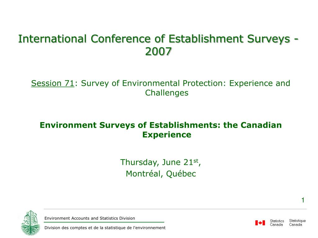 international conference of establishment surveys 2007