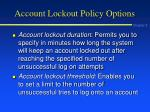 account lockout policy options