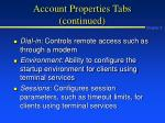 account properties tabs continued26