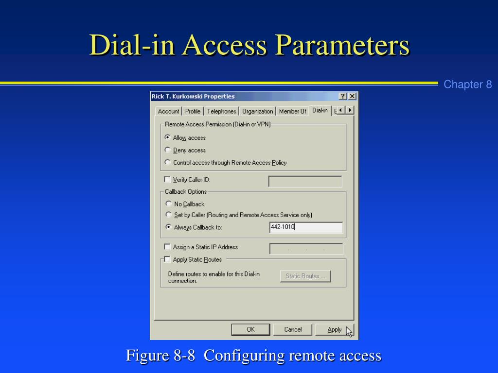 Dial-in Access Parameters