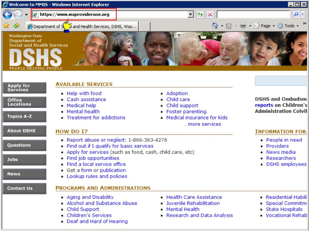 DSHS Home Page