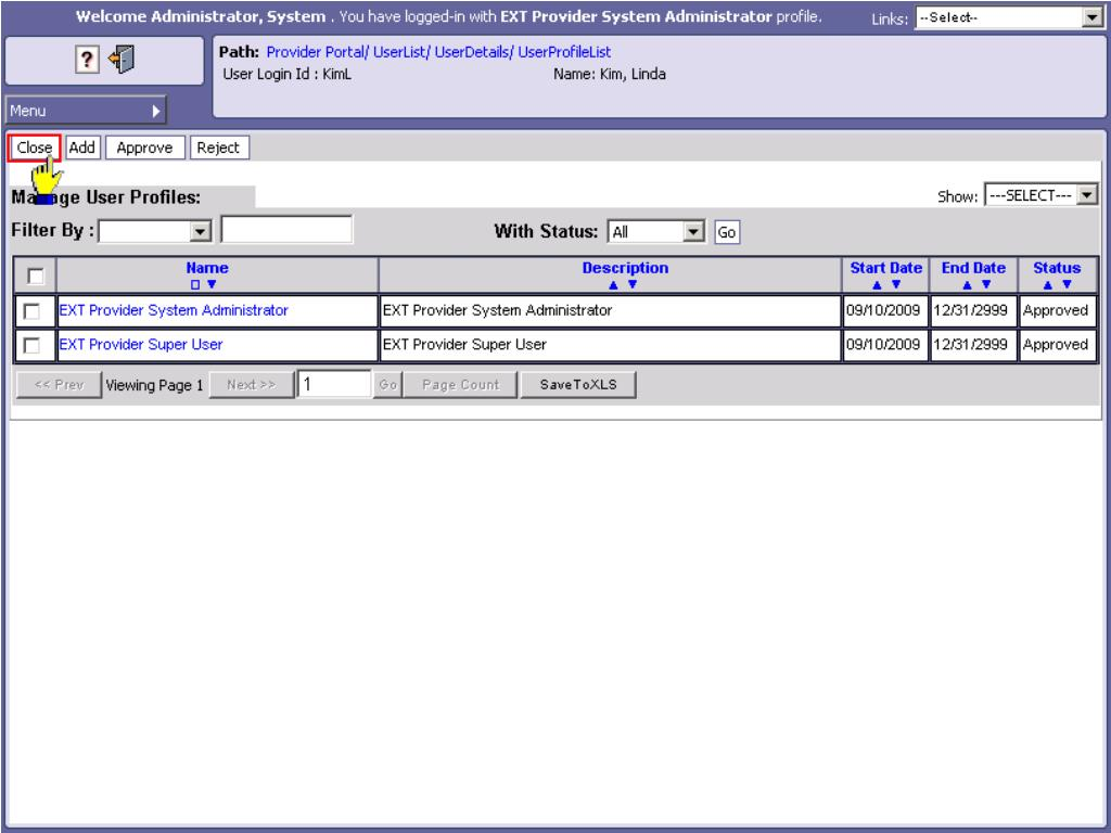 Manage User Profiles
