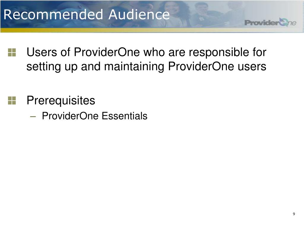 Recommended Audience