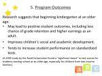 5 program outcomes11