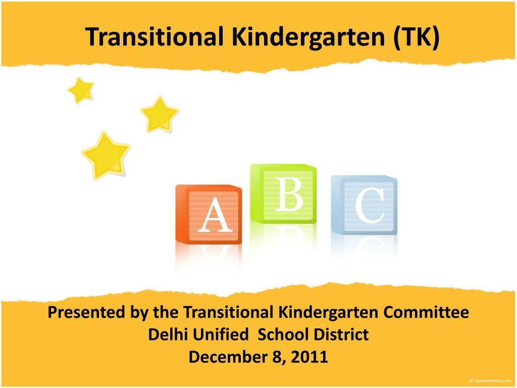 transitional kindergarten tk l.