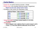 cache basics