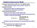 idealized uniprocessor model