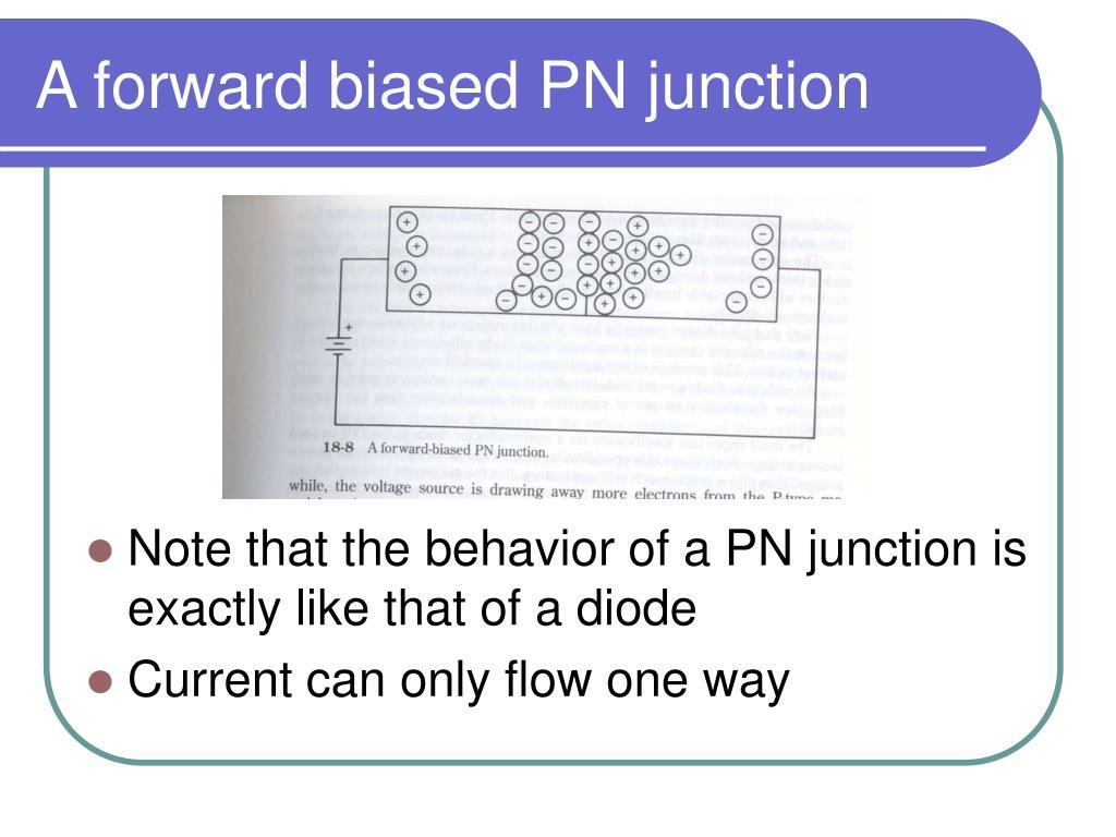 A forward biased PN junction