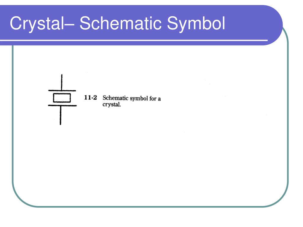 Crystal– Schematic Symbol