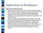 implications for practitioners