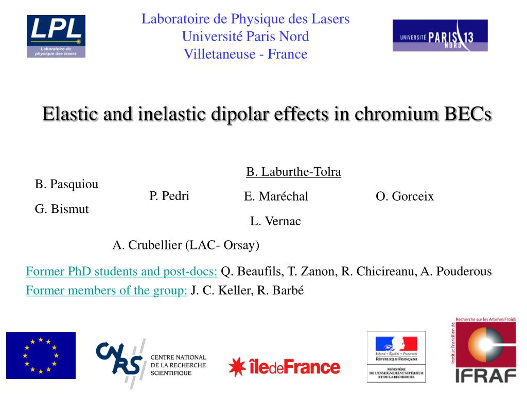 elastic and inelastic dipolar effects in chromium becs l.