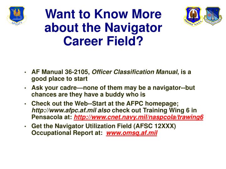 Want to Know More about the Navigator Career Field?