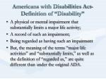 americans with disabilities act definition of disability