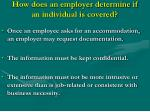 how does an employer determine if an individual is covered