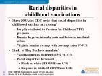racial disparities in childhood vaccinations