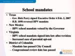 school mandates