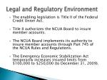 legal and regulatory environment6
