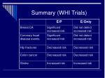 summary whi trials