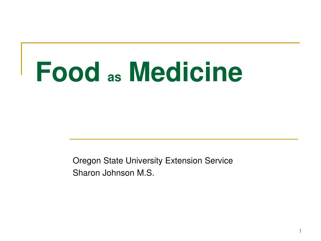 food as medicine l.
