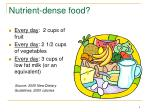 nutrient dense food