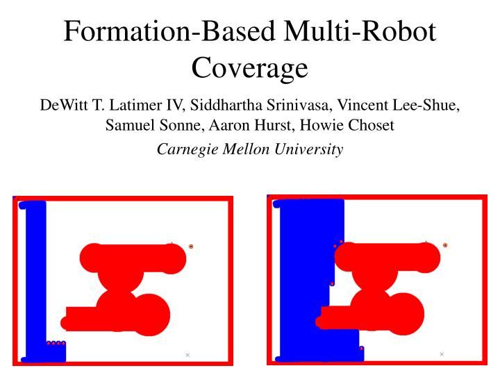 Formation based multi robot coverage
