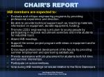 chair s report6