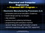 electrical and computer engineering proposed eet program48