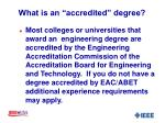 what is an accredited degree