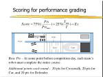 scoring for performance grading