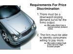 requirements for price discrimination