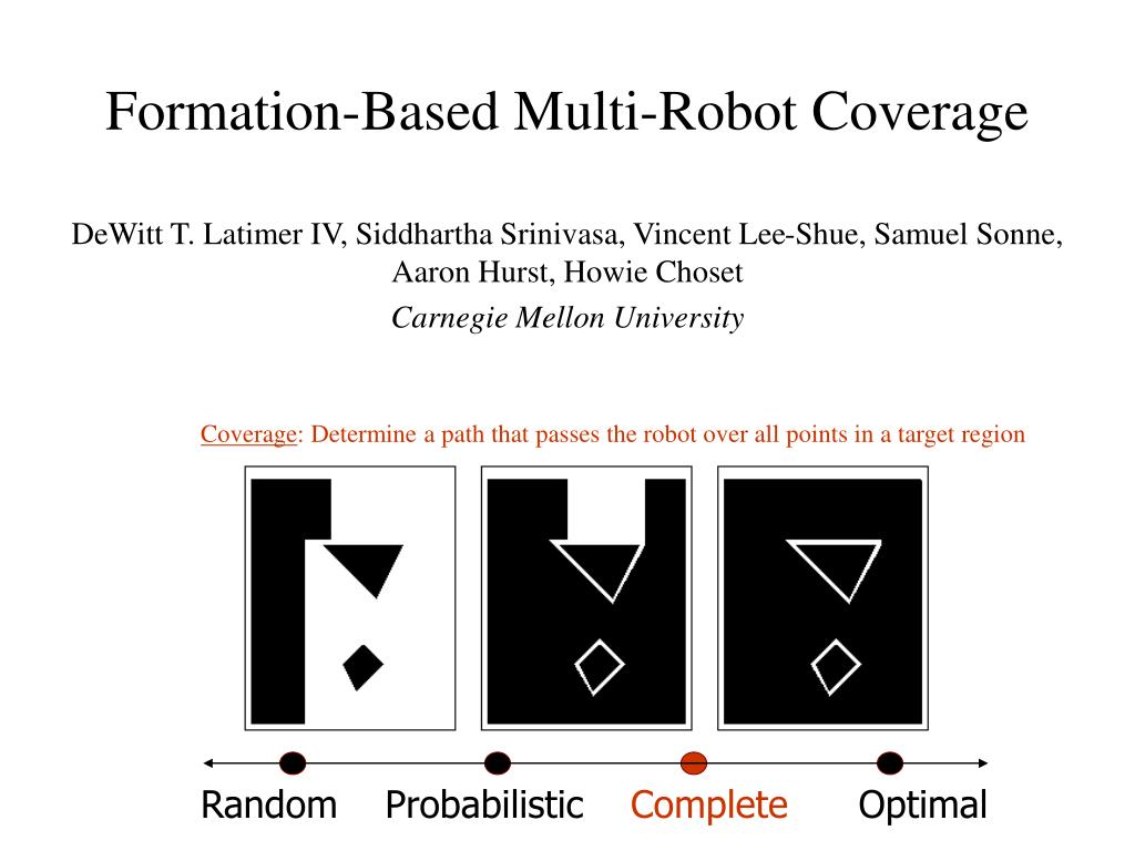 formation based multi robot coverage l.