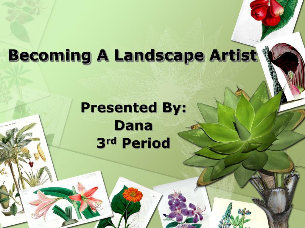 becoming a landscape artist l.