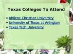 texas colleges to attend
