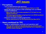 jht issues