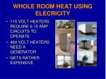whole room heat using elecricity